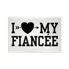 I Love My Fiancee Rectangle Magnet