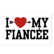 I Love My Fiancee Postcards (Package of 8)