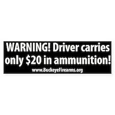 Friendly Warning Bumper Bumper Sticker