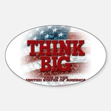 Think Big! Oval Sticker (10 pk)