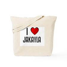 I LOVE JAKAYLA Tote Bag