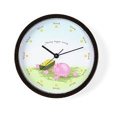 Working Round the Clock Scenic Wall Clock