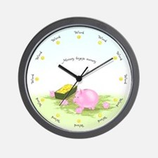 Working Round the Clock Scenic Wall Clock