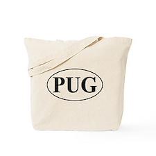 Pug- Oval Tote Bag