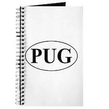 Pug- Oval Journal