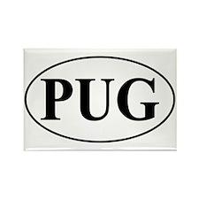 Pug- Oval Rectangle Magnet