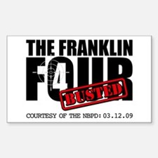The Franklin Four Rectangle Sticker 10 pk)