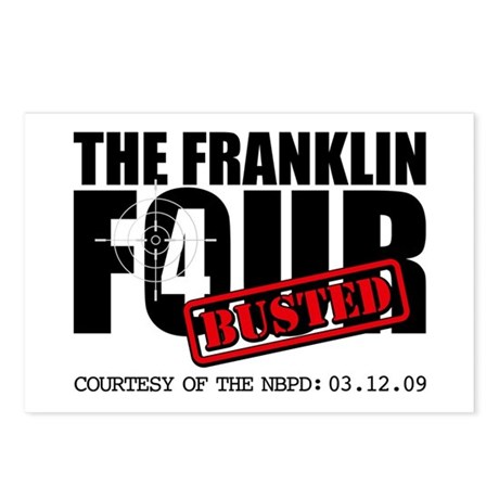 The Franklin Four Postcards (Package of 8)