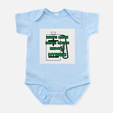 Hybrid Symbol and Slogan Infant Creeper