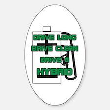 Hybrid Symbol and Slogan Oval Decal