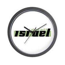 Cute I stand with israel Wall Clock