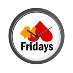 Goldfish hate Fridays Wall Clock