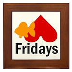 Goldfish hate Fridays Framed Tile