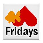 Goldfish hate Fridays Tile Coaster