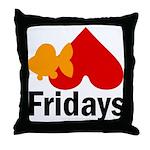 Goldfish hate Fridays Throw Pillow