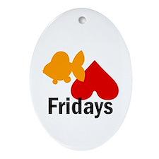 Goldfish hate Fridays Oval Ornament