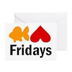 Goldfish hate Fridays Greeting Cards (Pk of 10