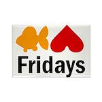 Goldfish hate Fridays Rectangle Magnet