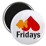 Goldfish hate Fridays Magnet