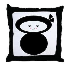 Kawaii Ninja Dolly Design Throw Pillow