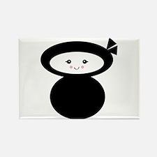 Kawaii Ninja Dolly Design Rectangle Magnet