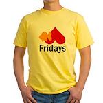 Goldfish hate Fridays Yellow T-Shirt