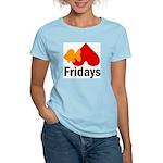 Goldfish hate Fridays Women's Pink T-Shirt