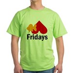 Goldfish hate Fridays Green T-Shirt