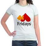 Goldfish hate Fridays Jr. Ringer T-Shirt