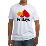 Goldfish hate Fridays Fitted T-Shirt