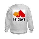 Goldfish hate Fridays Kids Sweatshirt