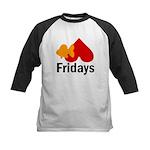 Goldfish hate Fridays Kids Baseball Jersey