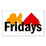 Goldfish hate Fridays Rectangle Sticker