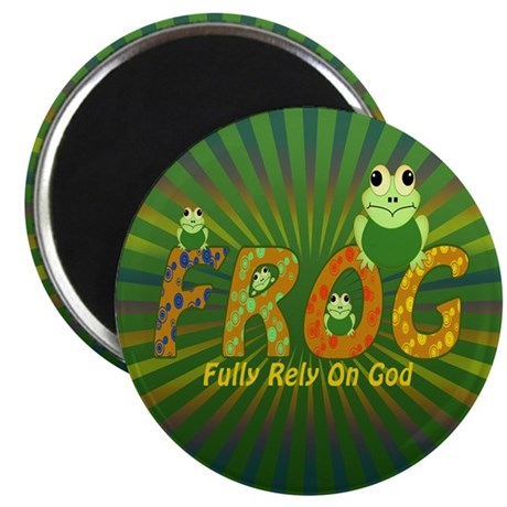 Frog Fully Rely On God Magnet