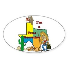 Texas Geocacher Oval Decal
