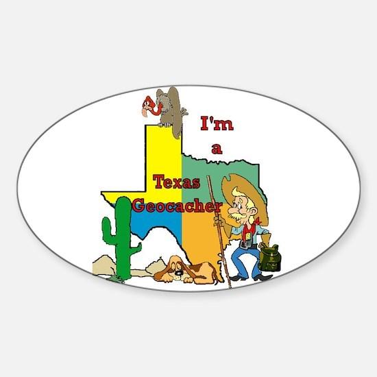 Texas Geocacher Oval Decal