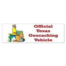 Texas Geocache Bumper Bumper Sticker