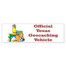 Texas Geocache Bumper Car Sticker