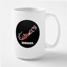 Flag Map of Bermuda Large Mug