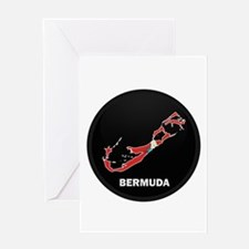 Flag Map of Bermuda Greeting Card