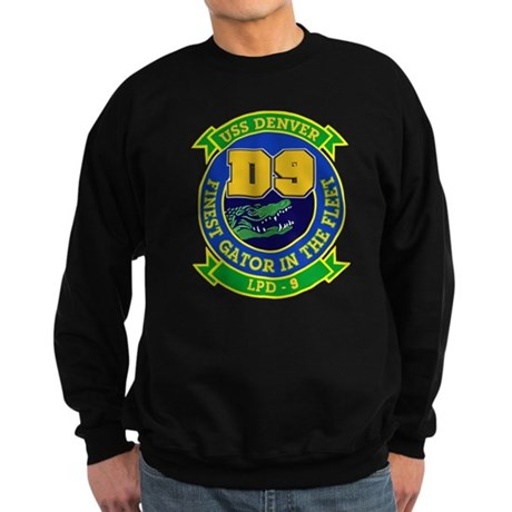 USS Denver LPD 9 Sweatshirt (dark)