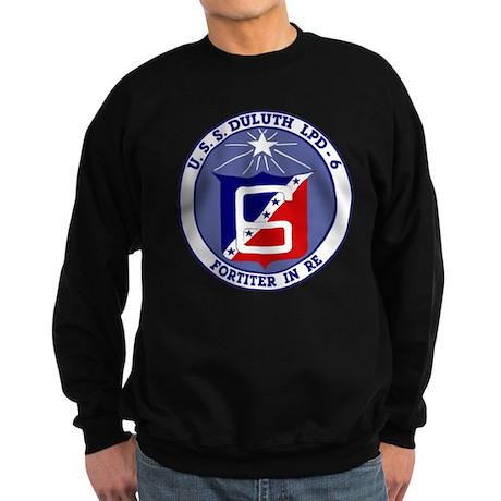 USS Duluth LPD 6 Sweatshirt (dark)