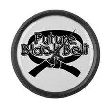 Future Black Belt 2 Large Wall Clock
