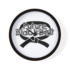 Future Black Belt 2 Wall Clock