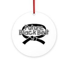 Future Black Belt 2 Ornament (Round)