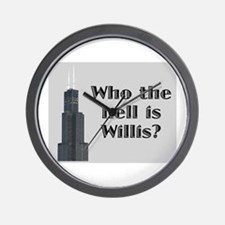 Who the Hell is Willis? Wall Clock