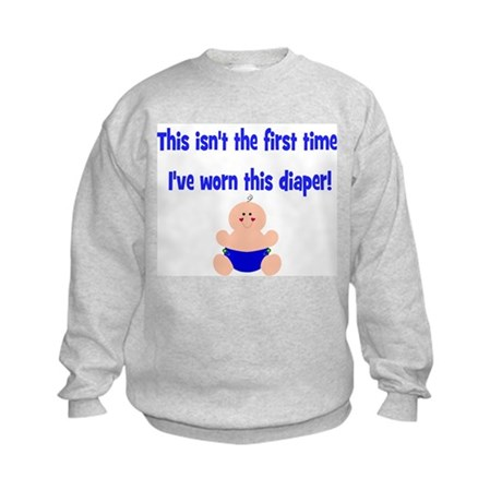 This isn't-with clothdiapered Kids Sweatshirt