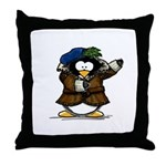Shakespeare Penguin Throw Pillow