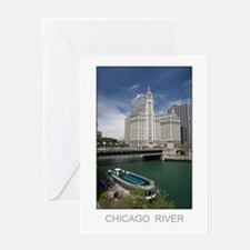 River Tour Boat Greeting Card