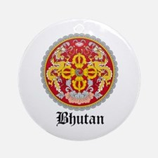 Bhutanese Coat of Arms Seal Ornament (Round)